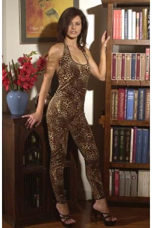 Really Catty! - Leopard Print Catsuit