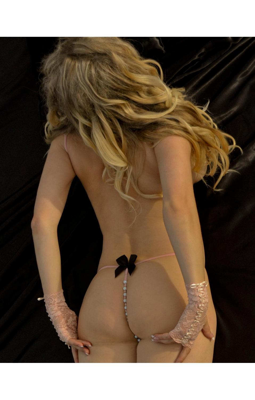 Bracli picos v shaped pearl thong panty