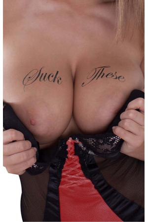 Suck These! Temporary Tattoos