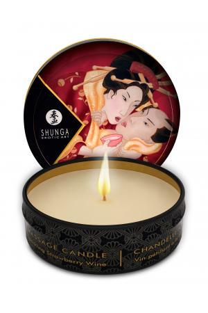 Mini Massage Candle - Romance - Sparkling Strawberry Wine - 1 Fl. Oz.