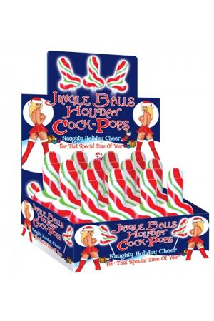 Jingle Bells Holiday Cock Pop - 12 Piece Display