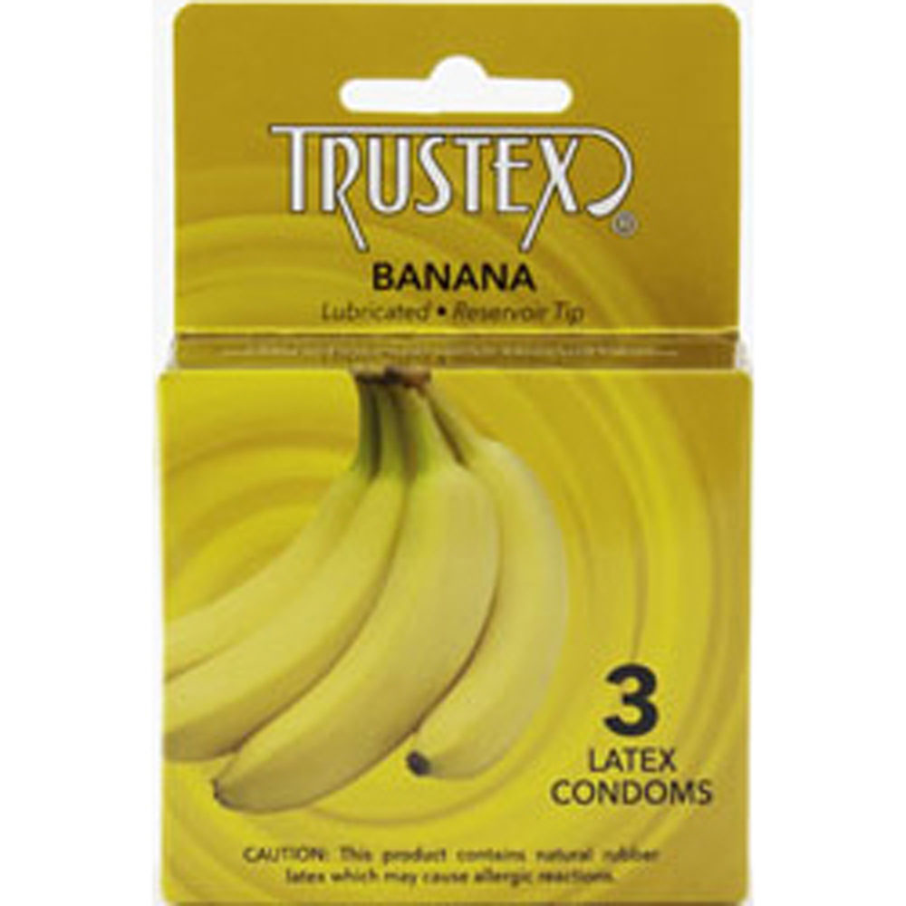 Image of Trustex Flavored Lubricated Condoms - 3 Pack - Banana