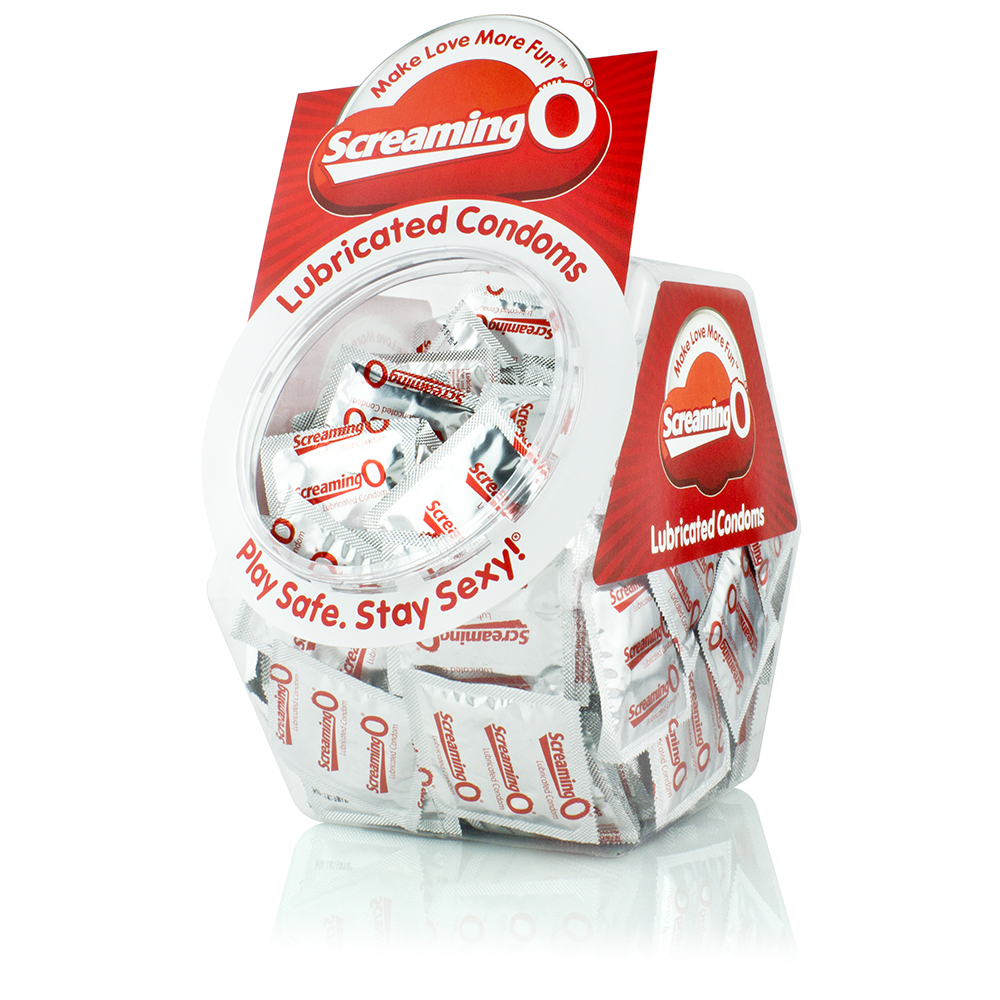 Image of Screaming O Condoms - Lubricated - 144 Count Bowl