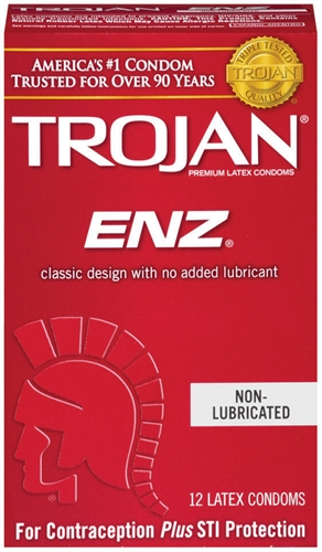 Image of Trojan Enz Non-Lubricated Condoms - 12 Pack