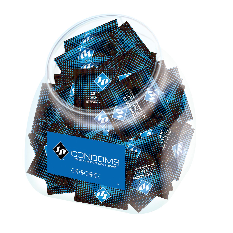 Image of ID Extra Thin Condom Jar - 144 Pieces