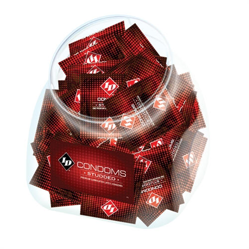 Image of ID Condoms - Studded - 144 Piece Jar