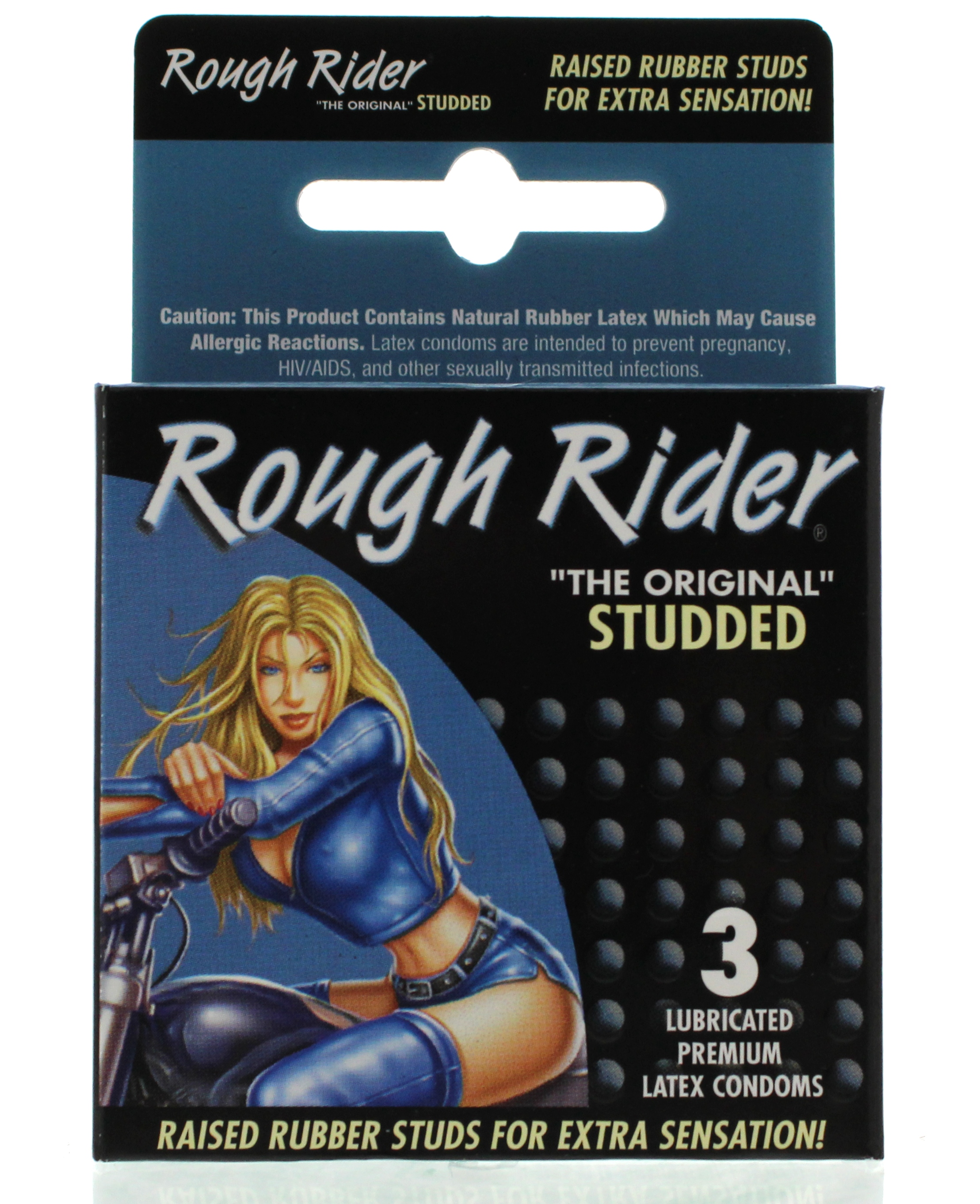 Image of Rough Rider Studded Lubricated Condoms - 3 Pack